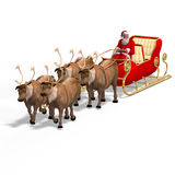 Render of Santa Claus - Merry Xmas. Image contains clipping path Stock Photo