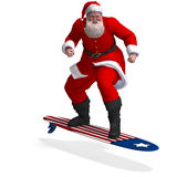 Render of Santa Claus - Merry Xmas Stock Photo