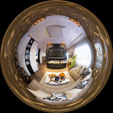 Render seamless panorama of living room interior design. little Royalty Free Stock Photography