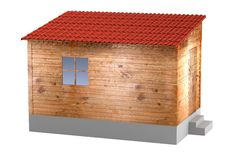 Render of shack Stock Photography