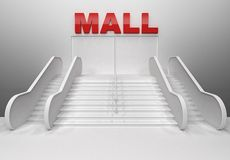 Render of shopping center building Royalty Free Stock Image