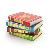 Render of stack old colorful books Stock Photo