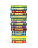 render of stack old colorful school books Stock Photography