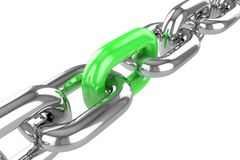 Render stainless steel chain Stock Images