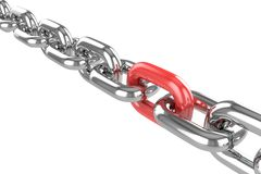 Render stainless steel chain Royalty Free Stock Photography