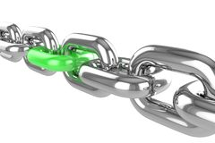 Render stainless steel chain Stock Photography