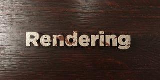 Render - título de madeira sujo no bordo - 3D rendeu a imagem conservada em estoque livre dos direitos Fotografia de Stock