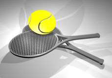Render tennis rackets Royalty Free Stock Image