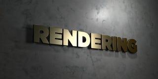 Render - texto do ouro no fundo preto - 3D rendeu a imagem conservada em estoque livre dos direitos Fotos de Stock