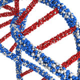 Render twisted DNA molecule isolated on white Stock Photo