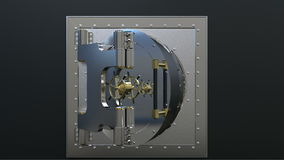 Render of the vault door. 3D. Render of the vault door. video. 3D stock video