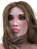 Render Woman Portrait Stock Photo