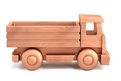 Render of wooden toy Royalty Free Stock Photography