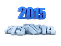Render of the year 2015 and other years. Render of the new year 2015 and other years in white background Stock Images