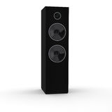 Rendered 3d black loudspeaker tower Stock Photos