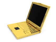 Rendered 3D golden notebook Royalty Free Stock Image