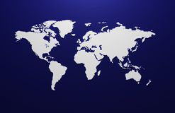 Rendered 3d map of the world.  Stock Photos