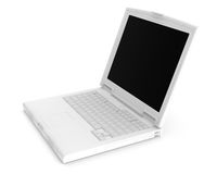 Rendered 3D white notebook Royalty Free Stock Photography