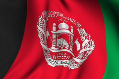 Rendered Afghan Flag Royalty Free Stock Photography