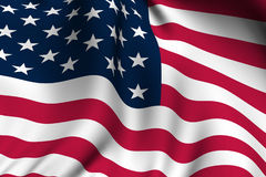 Rendered American Flag Royalty Free Stock Images
