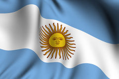 Rendered Argentine Flag Stock Images