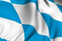 Rendered Bavarian Flag Stock Photography
