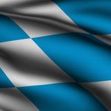 Rendered Bavarian Square Flag Royalty Free Stock Photo