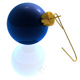 Rendered Blue Ornament Stock Photo