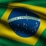 Rendered Brazilian Square Flag Royalty Free Stock Photos