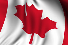 Rendered Canadian Flag Royalty Free Stock Images