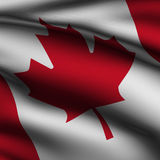 Rendered Canadian Square Flag Royalty Free Stock Image