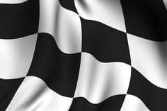 Rendered Chequered Flag. Rendering of a waving chequered flag with accurate colors and design Royalty Free Stock Photo