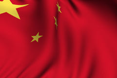 Rendered Chinese Flag Stock Photo