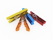 Rendered colour pegs isolated Stock Images