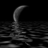 Rendered crescent moon Stock Photos