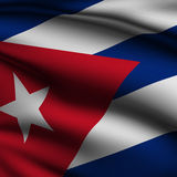 Rendered Cuban Square Flag Stock Images
