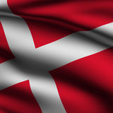 Rendered Danish Square Flag Royalty Free Stock Images