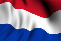 Rendered Dutch Flag Stock Images
