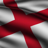 Rendered English Square Flag vector illustration
