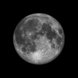 Rendered full moon Stock Images