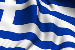 Rendered Greek Flag Stock Images