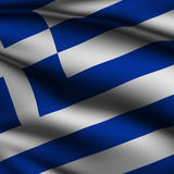 Rendered Greek Square Flag Stock Image