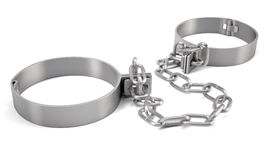 Rendered handcuffs. 3d rendering Royalty Free Stock Image