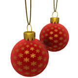Rendered Hanging Red Ornaments Stock Photos