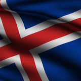 Rendered Icelandic Square Flag Stock Photo