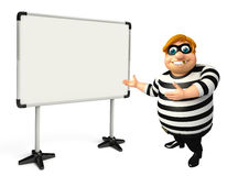 Rendered illustration of fate Thief with white board Stock Photos