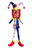 Rendered illustration of slim clown funny pose Stock Photo