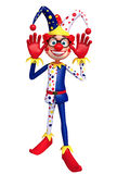 Rendered illustration of slim clown funny pose Stock Images