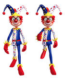 Rendered illustration of slim clown running and walking pose Royalty Free Stock Photo