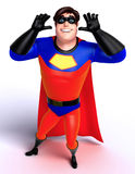 Rendered illustration of superhero with funny pose Royalty Free Stock Photos